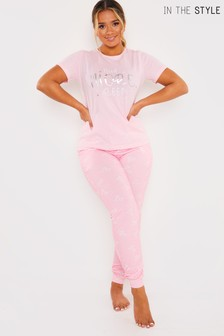 In The Style Short Sleeve Pj Set