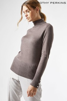 Dorothy Perkins Pearl Button Roll Neck Jumper