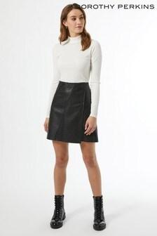 Dorothy Perkins Textured Wrap Mini Skirt