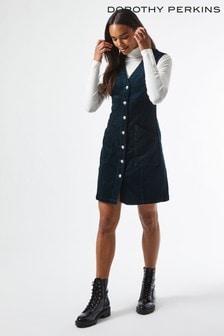 Dorothy Perkins Button Cord Pinafore Dress