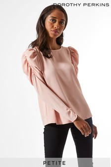 Dorothy Perkins Petite Puff Shoulder Top