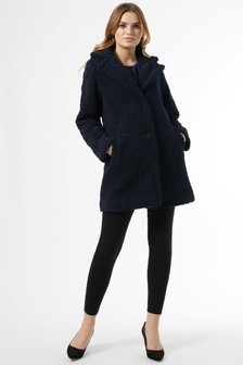 Dorothy Perkins Long Line Teddy Coat