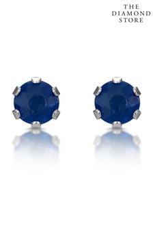 The Diamond Store Studded Earrings in 9K White Gold 3mm