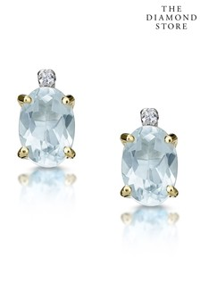 The Diamond Store 0.80CT And Diamond Earrings in 9K Yellow Gold 8mm x 4mm