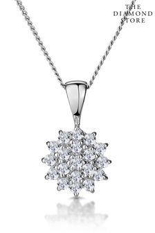 The Diamond Store 0.25ct Pendant Necklace in 9K White Gold