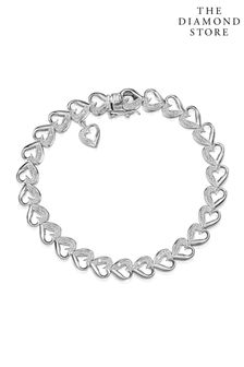 The Diamond Store Heart Bracelet