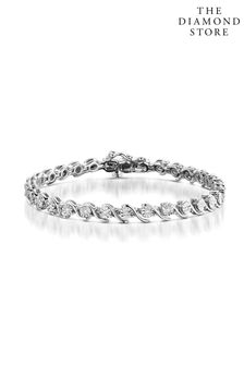 The Diamond Store 0.19ct and Silver Twist Bracelet