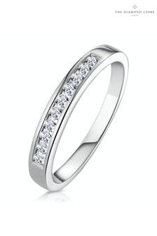 The Diamond Store 0.20CT Rae Half Eternity Ring in 9K White Gold