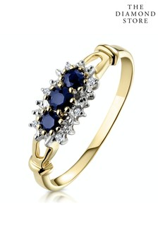 The Diamond Store 0.34ct And Diamond Ring in 9K Yellow Gold