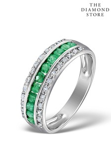 The Diamond Store And 0.56ct Diamond Eternity Ring in 9K White Gold