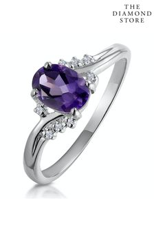 The Diamond Store 0.68ct And Diamond Ring in 9K White Gold
