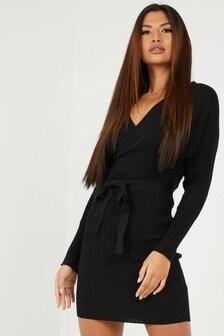 Quiz Knit Batwing Sleeve Jumper Dress