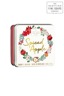 Scottish Fine Soaps Spiced Apple Soap in a Tin 100g