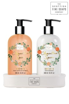 Scottish Fine Soaps Clementine Spice Hand Care Set