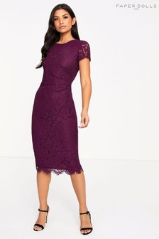 Paper Dolls Lace Midi Dress