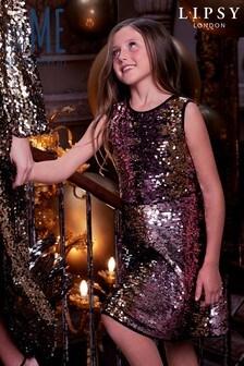 Lipsy Girl Sequin Skater Dress