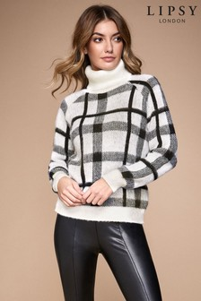 Lipsy Check Cowl Neck Jumper