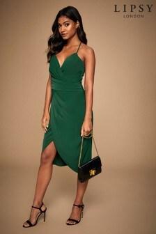Lipsy Pleated Cami Wrap Dress
