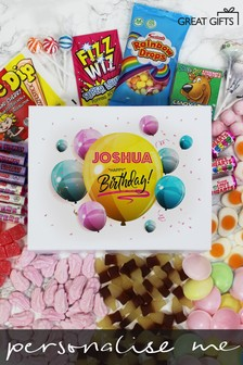 Personalised Happy Birthday Deluxe Sweet Box by Great Gifts