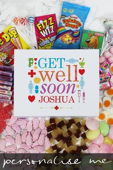 Personalised Get Well Soon Deluxe Sweet Box by Great Gifts