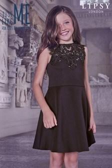 Lipsy Girl Scuba Sequin Artwork Dress