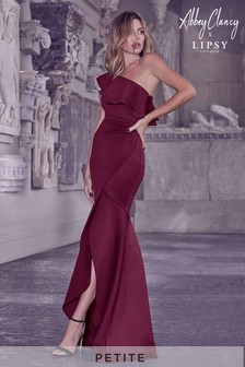 Abbey Clancy x Lipsy Petite One Shoulder Ruffle Maxi Dress