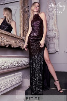 Abbey Clancy x Lipsy Petite Ombre All Over Sequin Maxi Dress