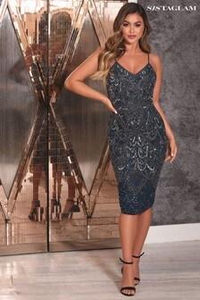 Sistaglam Embellished Maxi Dress