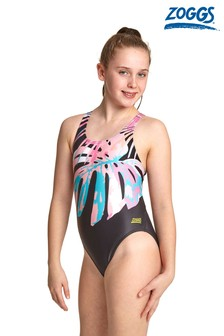 Zoggs Palm Print Swimsuit