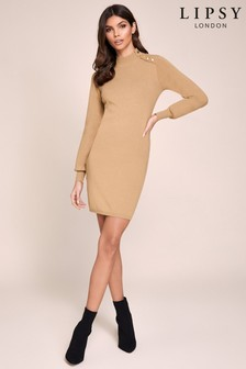 Lipsy Shift Button Dress