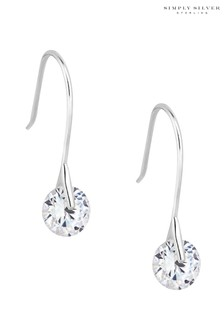 Simply Silver Sterling Silver Round Drop Earrings