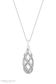 Simply Silver Sterling Silver Caged Pendant