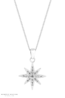 Simply Silver Sterling Silver Star Pendant
