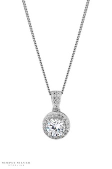 Simply Silver Sterling Silver Clara Pendant