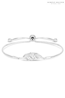 Simply Silver Sterling Silver Feather Toggle