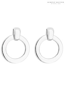 Simply Silver Sterling Silver Scandi Earrings