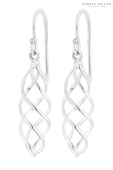 Simply Silver Sterling Silver Cage Earrings