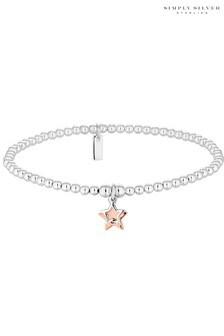 Simply Silver Sterling Silver Star Bracelet