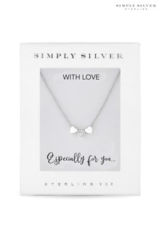 Simply Silver Sterling Silver Triple Heart Pendant