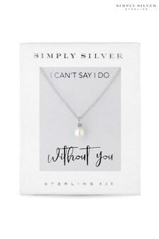 قلادة لؤلؤ فضة استرليني من Simply Silver