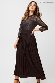 Little Mistress Lace Pleated Dress