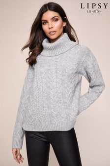 Lipsy Cable Cowl Neck Jumper