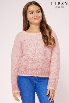 Lipsy Girl Ombre Sparkle Jumper