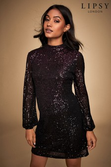 Lipsy Ombre Sequin Shift Dress