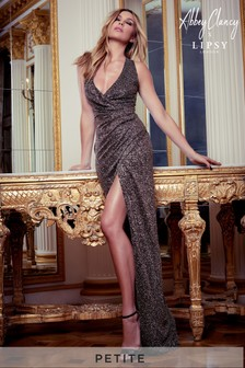 Abbey Clancy x Lipsy Petite Glitter Halterneck Maxi Dress