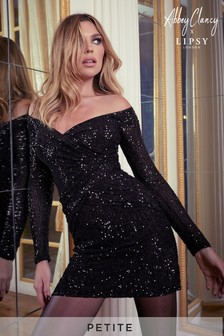 Abbey Clancy x Lipsy Petite Sequin Bardot Mini Dress
