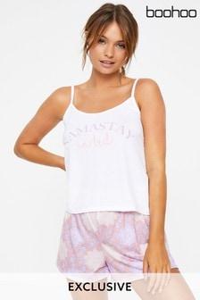 Boohoo Bedrucktes Pyjama-Set mit Trägern