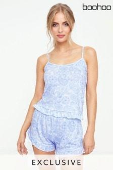 Boohoo Paisley Print Pyjama Set