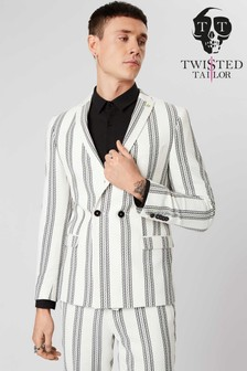 Twisted Tailor Stripe Suit Jacket