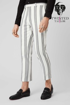 Twisted Tailor Stripe Suit Trousers
